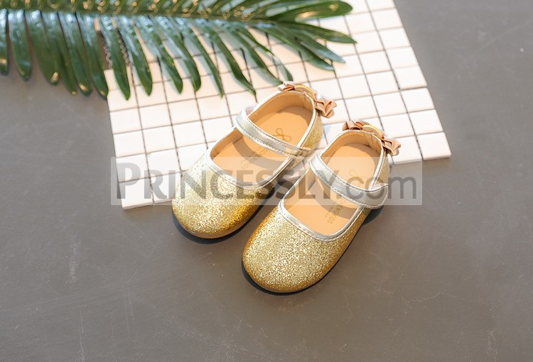 Princessly.com-K1003943-Gold/Silver/Lavender Sequin Wedding Flower Girl Shoes Baby Kids Bow Flats Princess Shoes-31