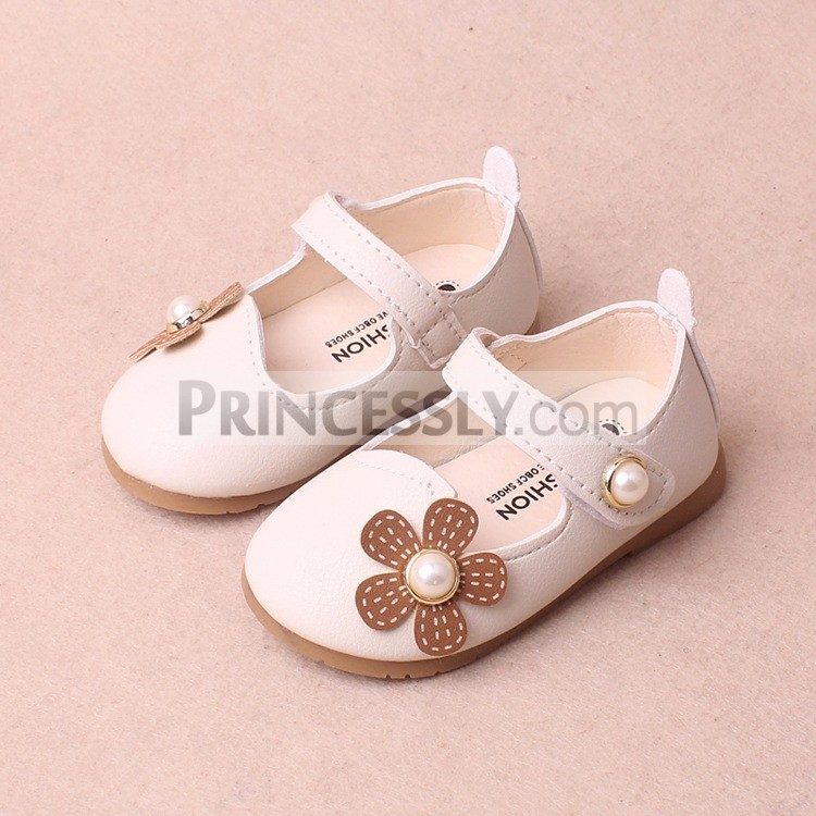 Princessly.com-K1003952-Ivory/Red/Pink Leather Pearls Baby Wedding Flower Girl Shoes Princess Shoes-31