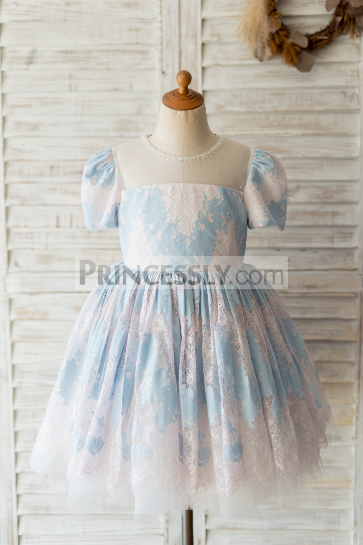 Princessly.com-K1004132-Blue Lace Short Sleeves Wedding Flower Girl Dress-31