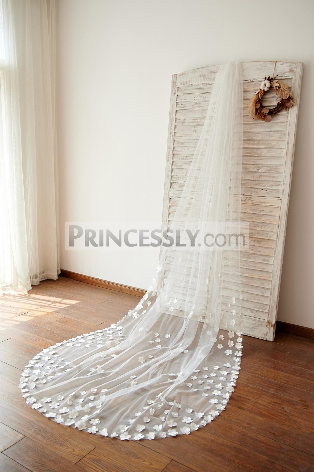 Princessly.com-K1003976-Handmade Flowers 3M Long Cathedral Wedding Bridal Veil-31