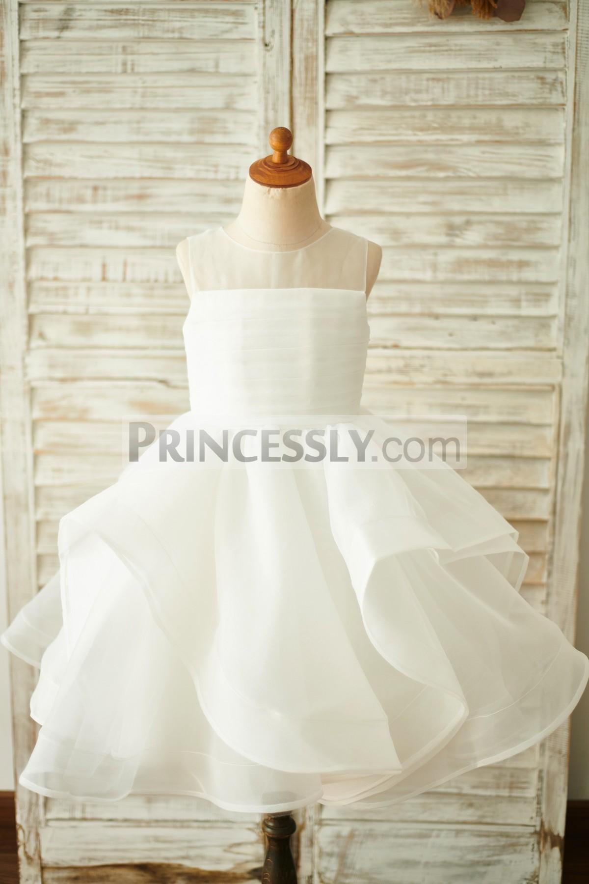 Princessly.com-K1003855-Ivory Organza V Back Wedding Flower Girl Dress-31