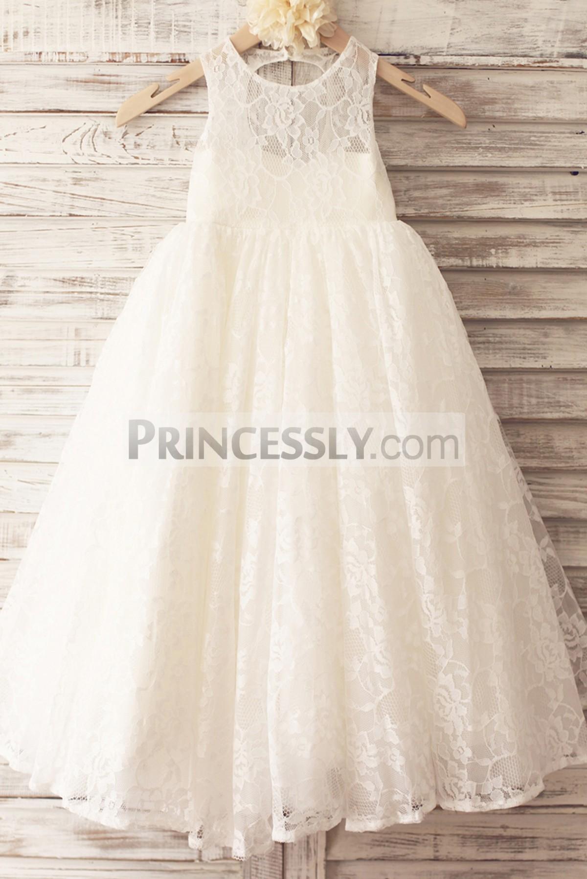 Princessly.com-K1004016-Princess Ivory Lace Keyhole Back Floor Length Wedding Flower Girl Dress-31