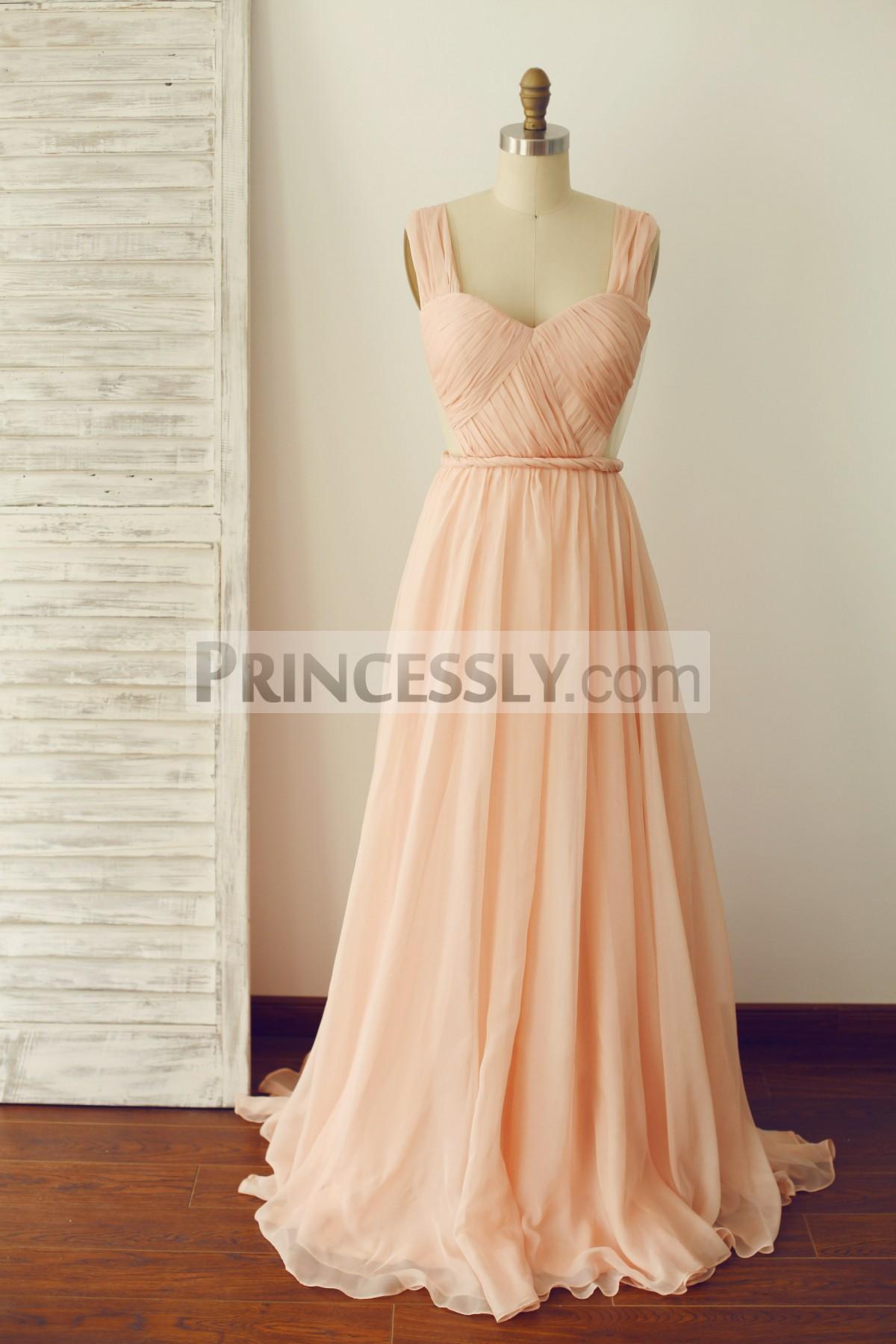 Princessly.com-K1003284-A Line Backless Peach Chiffon Prom Dress-31
