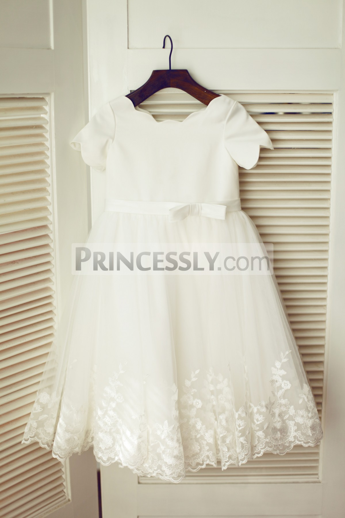 Princessly.com-K1003335-Ivory Satin Lace Tulle Wedding Flower Girl Dress with Short Sleeves-31