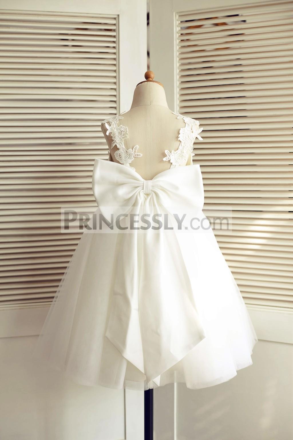 Princessly.com-K1003509-Ivory Lace Tulle V Back Wedding Flower Girl Dress with Big Bow-31