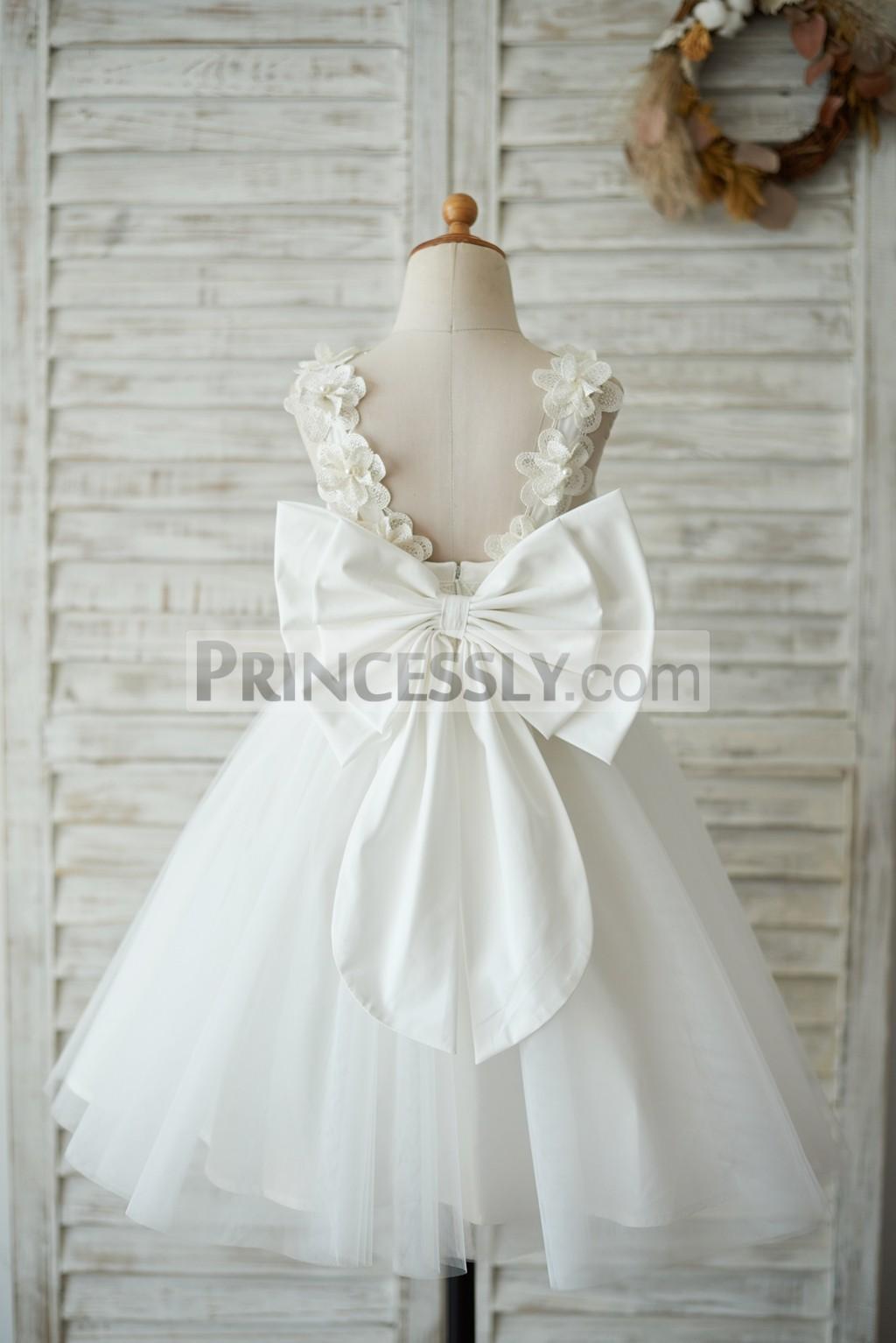 Princessly.com-K1003541-Princess Ivory Lace Tulle V Back Wedding Flower Girl Dress with Big Bow-31