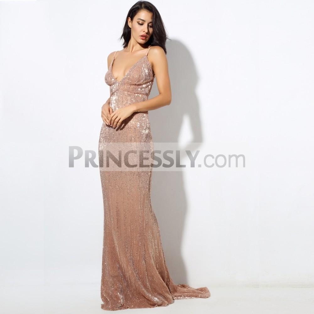 Princessly.com-K1003898-Sequin V Neck Backless Long Dress Party Evening Dress NAVY/SILVER/PINK/BLACK/RED/Champagne LM80119-31