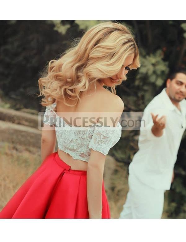Princessly.com-K1004118-Two Piece Red Chiffon Straps V Back Wedding Party Evening Dress-31
