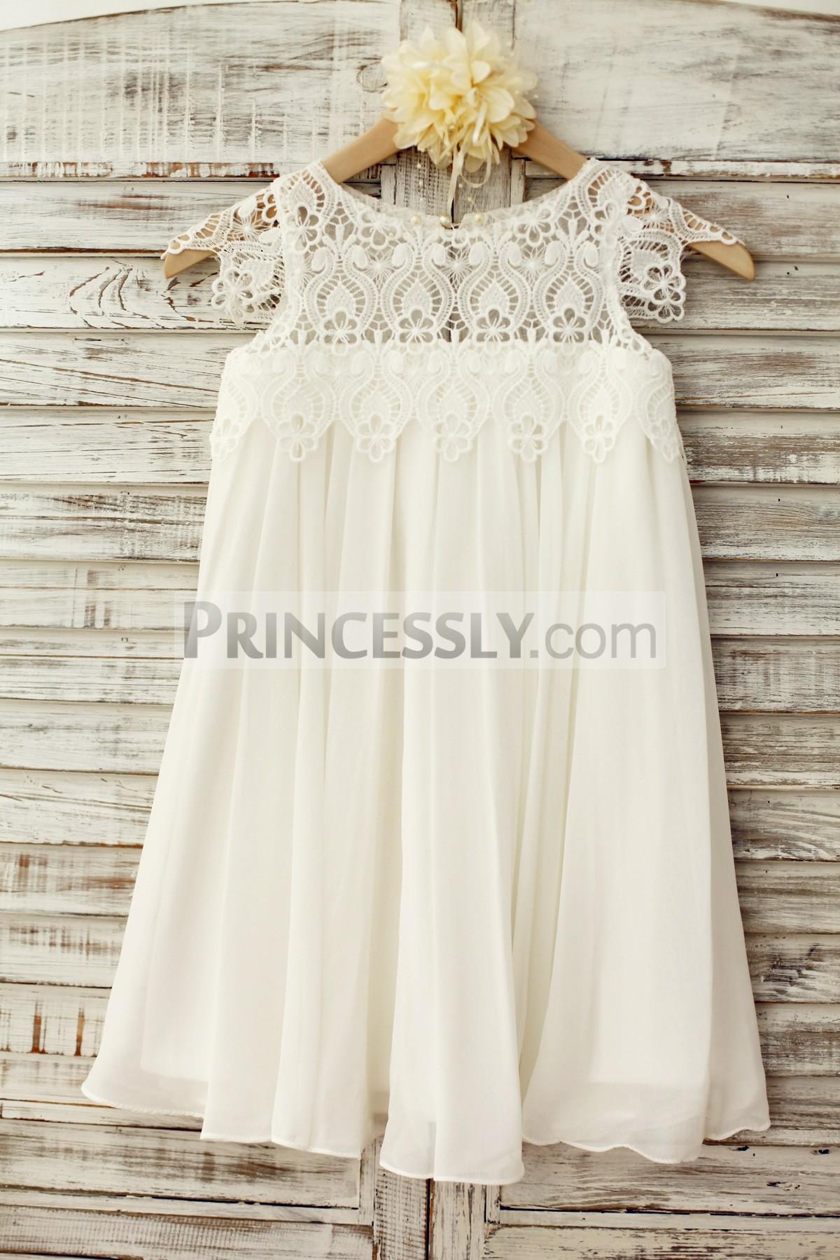 Princessly.com-K1003221-Boho Beach Lace Cap Sleeves Ivory Chiffon Flower Girl Dress-31