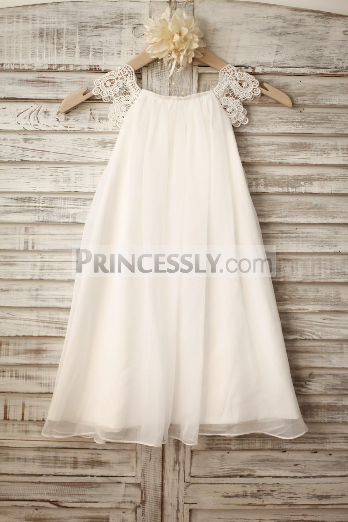 Princessly.com-K1003222-Lace Cap Sleeves Boho Beach Ivory Chiffon Flower Girl Dress-31