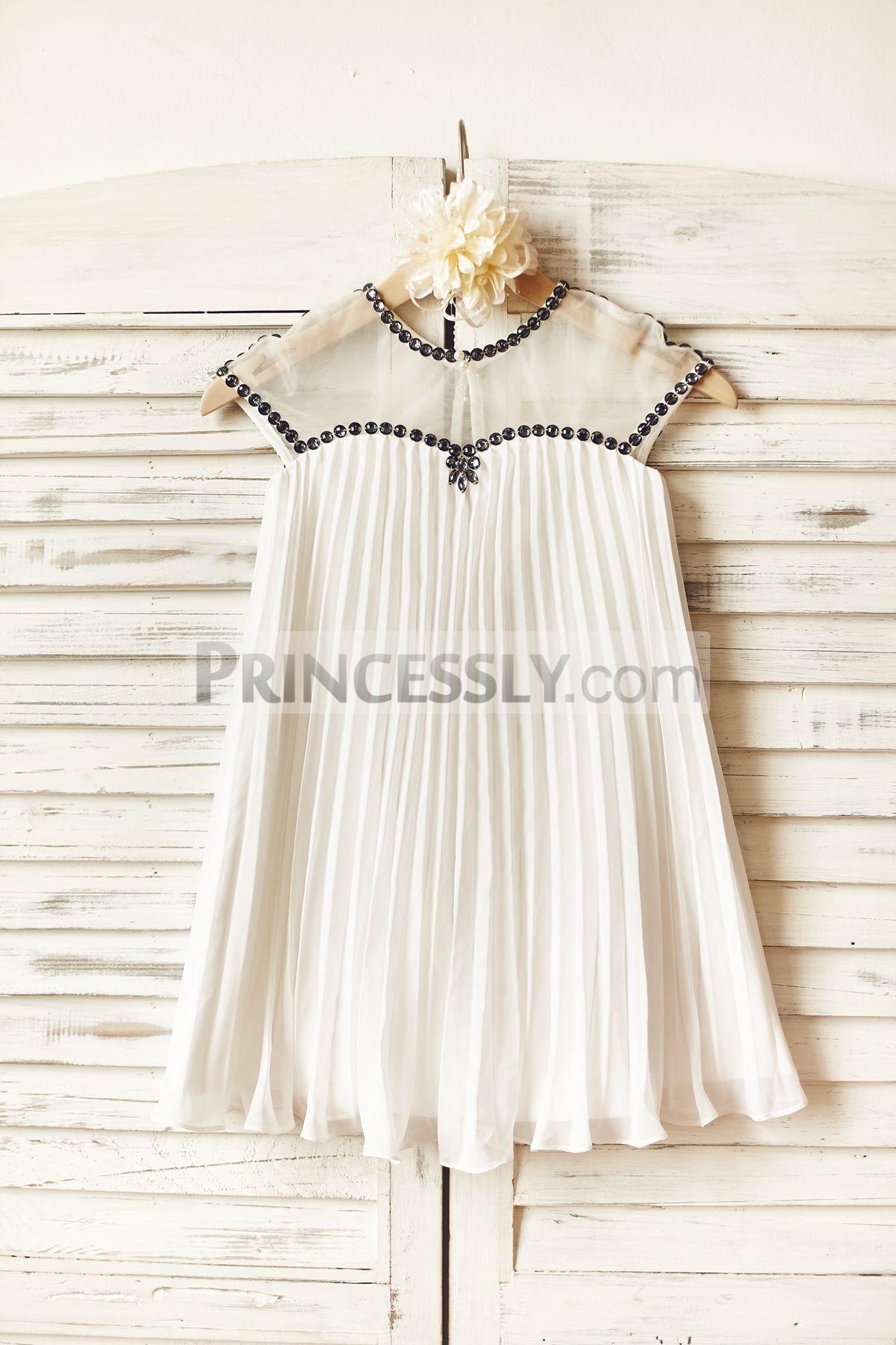 Princessly.com-K1000157-Sheer Neck Gray Beaded Ivory Chiffon Flower Girl Dress-31