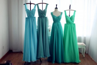 Colorful Chiffon  Bridesmaid dress Prom Dress  Backless Open Back Party Dress
