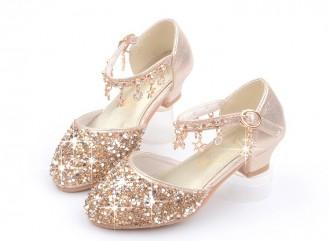 Princessly.com-K1003955-Gold/Silver/Pink Sequin Rhinestone Sandals Wedding Flower Girl Shoes High Heels Princess Dancing Shoes-20