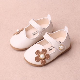 Princessly.com-K1003952-Ivory/Red/Pink Leather Pearls Baby Wedding Flower Girl Shoes Princess Shoes-20