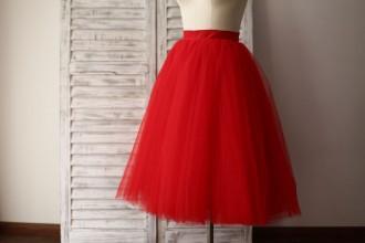 Princessly.com-K1000280-Red Tulle Petticoat Underskirt Crinoline TUTU Skirt-20