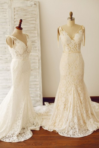 Princessly.com-K1000228-Sexy Backless Mermaid Lace Wedding Dress with Chapel Train-20