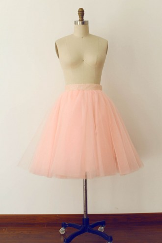 Princessly.com-K1000267-Pink Tulle Sequin Skirt/Short Woman Skirt-20