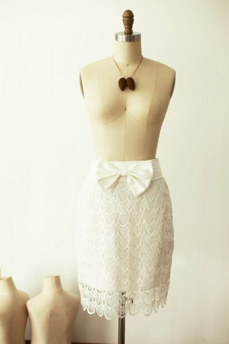 Princessly.com-K1000256-Ivory Lace Satin skirt with bow-20