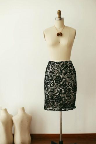 Princessly.com-K1000258-Black Lace Skirt /Short Woman Skirt-20