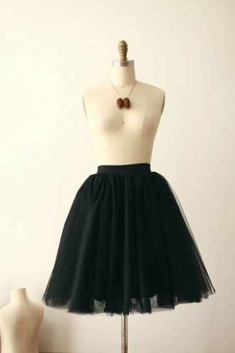 Princessly.com-K1000260-Black Tulle TUTU Skirt/Short Woman Skirt-20