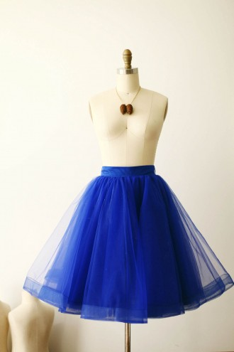 Princessly.com-K1000261-Royal Blue Tulle Skirt/Short Woman Skirt-20