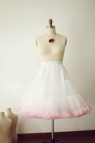 Princessly.com-K1000283-Ivory Pink Tulle Skirt/Short Woman Skirt-20
