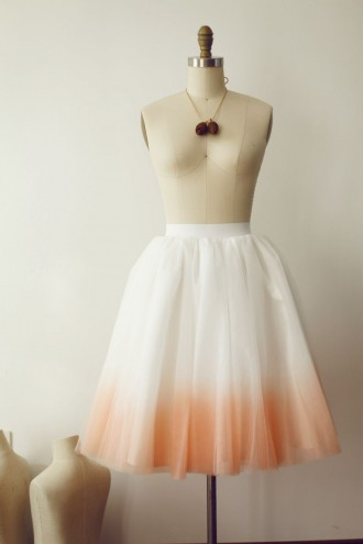 Princessly.com-K1000277-Ombre Ivory/Pink Tulle Skirt/Short Woman Skirt-20