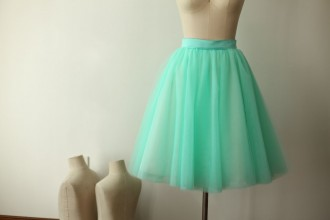Princessly.com-K1000276-Mint Blue Tulle Skirt/Short Woman Skirt-20