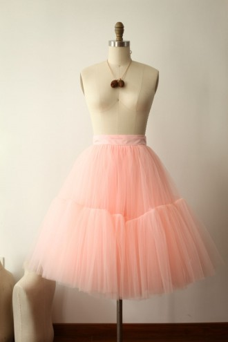 Princessly.com-K1000274-Pink Tulle Skirt/Short Woman Skirt-20