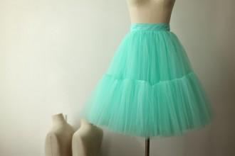 Princessly.com-K1000273-Mint Blue Tulle Skirt/Short Woman Skirt-20