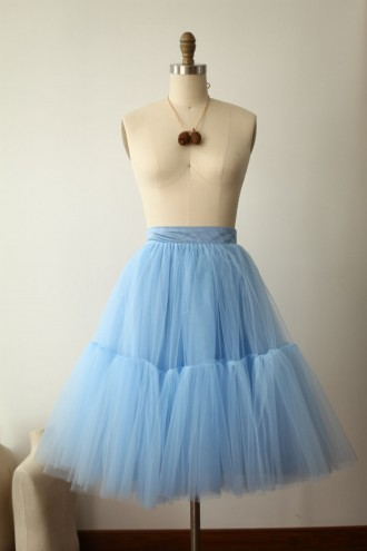 Princessly.com-K1000272-Blue Tulle Skirt/Short Woman Skirt-20