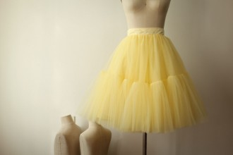 Princessly.com-K1000271-Yellow Tulle Skirt/Short Woman Skirt-20