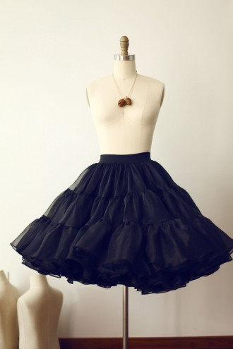 Princessly.com-K1000266-Black Organza Petticoat Underskirt Crinoline TUTU Skirt-20