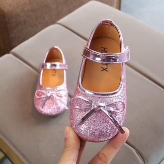 Princessly.com-K1003954-Gold/Silver/Pink Sequin Bow Princess Shoes Kids Flat Sandals Wedding Flower Girl Shoes-20