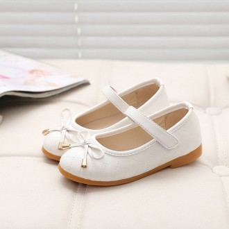 Princessly.com-K1003956-Ivory/Black/Red/Pink Bowknot Leather Wedding Flower Girl Shoes Kids Party Shoes-20