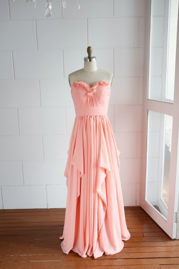 Princessly.com-K1000061-A-line Coral Strapless Sweetheart Ruffle Bridesmaid Dress-20