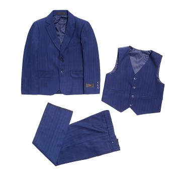 Princessly.com-K1003864-Boys 3 Pieces Formal Occassion Suit Set with Navy Blue Pinstripe-20
