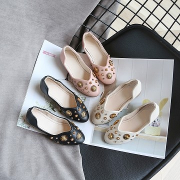 Princessly.com-K1003944-Ivory/Black/Pink Bow Leather Shoes Low Heel Shoes Wedding Party Flower Girl Shoes-20