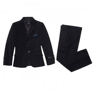 Princessly.com-K1003866-Boys 3 PCS Formal Suit Set for Wedding Party Black Suit-20
