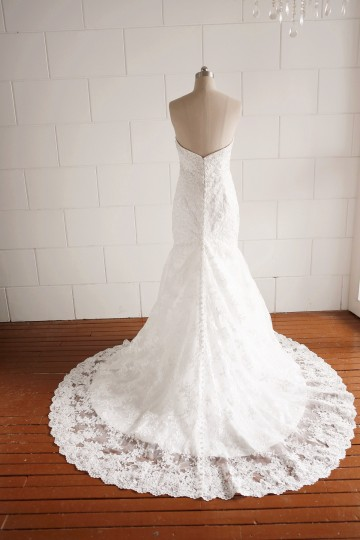 Princessly.com-K1000063-Strapless Sweetheart Beaded Lace Mermaid Wedding dress-20