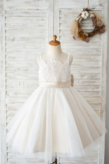Princessly.com-K1004036 Spaghetti Straps Ivory Lace Tulle Wedding Flower Girl Dress with Champagne Lining-20