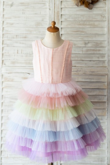 Princessly.com-K1004124-Glittering Tulle Cupcake V Back Wedding Flower Girl Dress-20