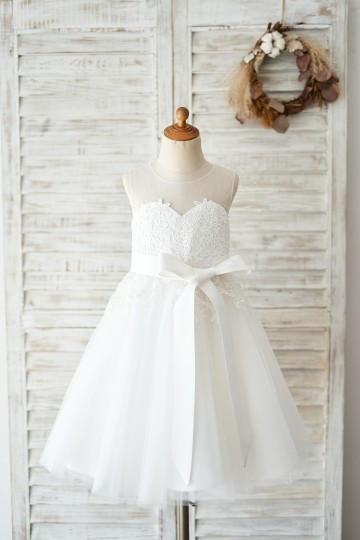 Princessly.com-K1004037-Keyhole Back Ivory Lace Tulle Wedding Flower Girl Dress-20