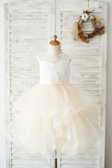 Princessly.com-K1004035-Ivory Lace Champagne Tulle Short Knee Length Wedding Flower Girl Dress-20