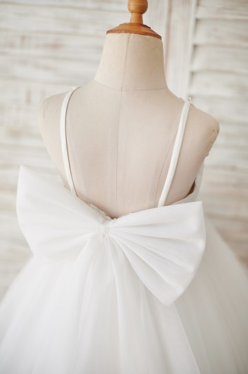 Princessly.com-K1003876-Ivory Lace Tulle Spaghetti straps Halter Neck Wedding Flower Girl Dress with Bow-20