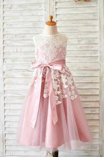 Princessly.com-K1003814-Princess Ivory Lace Mauve Tulle Sheer Neck Wedding Flower Girl Dress-20