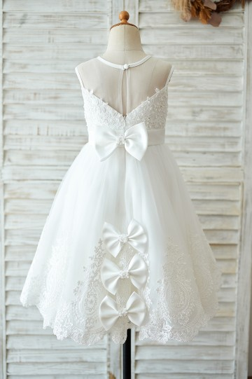 Princessly.com-K1003901-Ivory Lace tulle Wedding Flower Girl Dress with bows-20