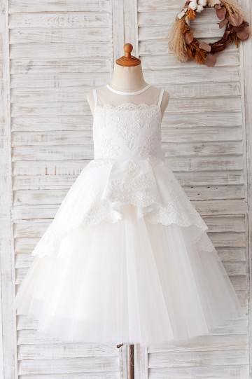 Princessly.com-K1004056-Ivory Lace Tulle Sheer Back Wedding Party Flower Girl Dress-20