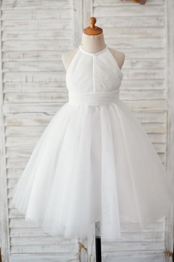 Princessly.com-K1003893-Ivory Chiffon Tulle Halter Neck Keyhole Back Wedding Flower Girl Dress-20
