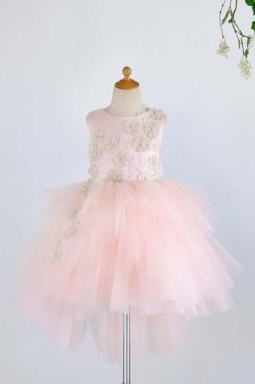 Princessly.com-K1003980-Pink Satin Tulle 3D Flowers Hi-low Wedding Flower Girl Dress-20